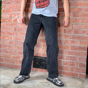 Men's Levi's 550 Relaxed Black Jeans 34x30